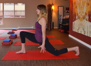 yoga pose low lunge
